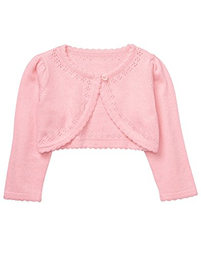 Gymboree Baby Boys Long Sleeve Crop Cardigan, Petal Pink, 0-3 - Sweater Cardigan Gymboree