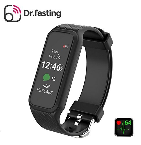 HR Moniter Fitness Tracker, Dr.fasting Waterproof Color Display Screen Heart Rate Monitor Watch, Armband | Wristband | Bracelet with free iOS Android APP, Smart Watch (Basketball Goals At Target)
