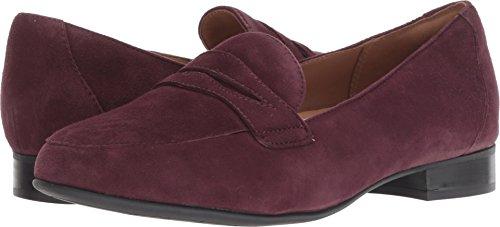 CLARKS Un Blush Go Womens Loafers Aubergine Suede 11 W