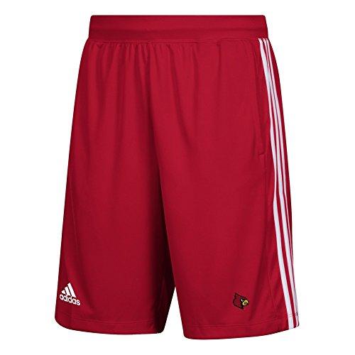 adidas Louisville Cardinals Men's Shorts 3 Stripes Knit Short (XXX-Large)