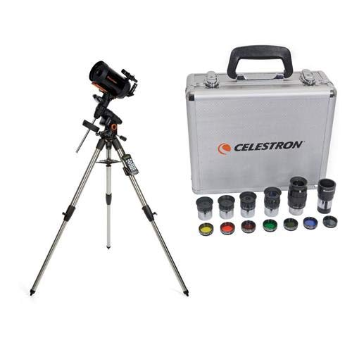 Celestron Advanced VX 6'' Schmidt-Cassegrain Telescope - with Deluxe Accessory Kit (5 Plossl Eyepieces, 1.25'' Barlow Lens, 1.25'' Filter Set, Accessory Carry Case by Celestron