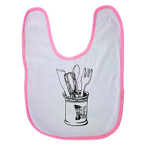 Price comparison product image Pink Baby Bib With Knife Fork Spoon Mixer Baby Boy Bibs,  Dribble Bibs,  Cool Baby Boy Bibs,  Best Baby Bibs,  Best Bibs,  Best Dribble Bibs,  Best Baby Bibs For Drooling,  Cute Baby Bibs,  Cute Baby Boy Bib
