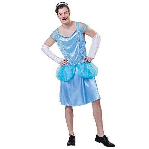 Totally Ghoul Men's Princess (Cinderella) Man Erella One Size Fits Most Costume