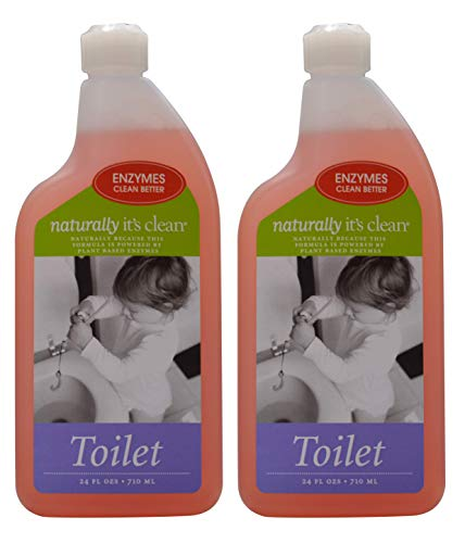 2pack 24oz Naturally It's Clean Toilet Bowl Cleaner; Enzyme Cleaner Safely Cleans&deodorizes Toilet Bowls; Break Down Toilet Ring, Stain&Grime; Remove Odors; Non-Toxic, Pet Safe&Child Safe