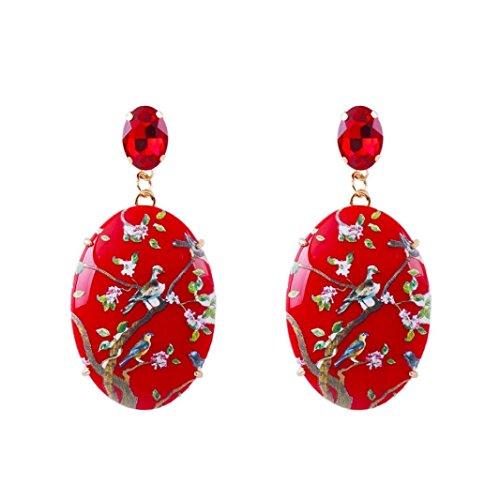 YJYdada Earring, Steel Gold Women Girl Earrings Fashion Jewelry 1Set Stud Earring (A)