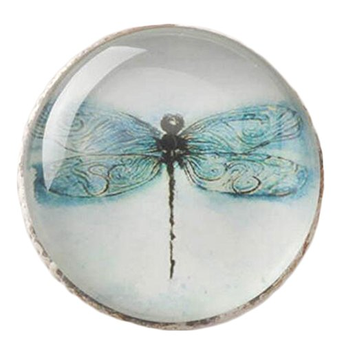 Kylin Express Creative Drawer/Cabinet Pull Handles Alloy Cabinet Knobs, Blue Dragonfly by Kylin Express