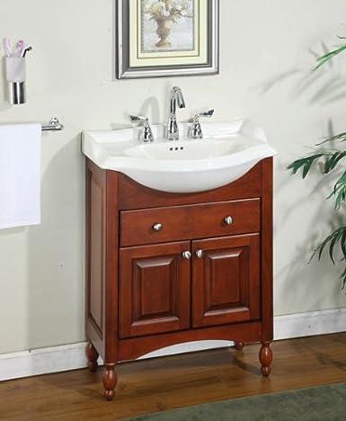 Amazon Com Windsor 26 Narrow Depth Bathroom Vanity Base Base Finish Cognac Appliances