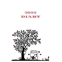 2018 Diary: Handwriting Book, Daily Calendar, Writing And Drawing Diary, Scrapbook, One Page Per Day, For Kids, 366 pages, 6 x 9 in, A5 Size