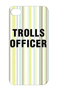Trolls Officer Black Skid-proof Miscellaneous Officers Meme Cyber Bully Funny Admin Protective Hard Case For Iphone 5s