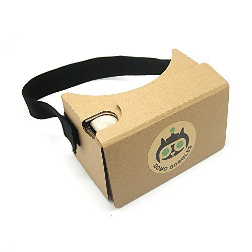 Google Cardboard 2.0 Virtual Reality VR Kit with Head Strap, Nose Pad, and Forehead Pad by DOMO Cardboard for Smartphone (Android, iPhone, Nexus, Galaxy, Motorola, Sony, LG, HTC) primary