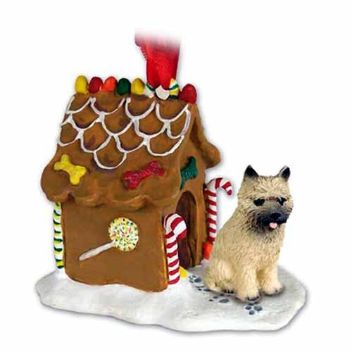 CAIRN Terrier Dogs Gingerbread House Christmas Ornament New Gift