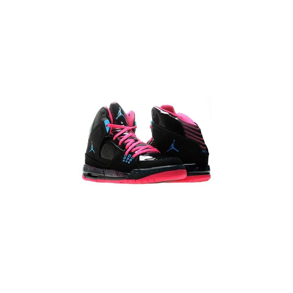 Nike Air Jordan SC 1 (GS) Girls Basketball Shoes 439655 009 Black 6.5 M US