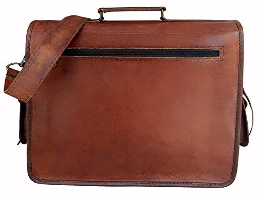 handolederco  big pocket nd, Borsa Messenger  marrone brown