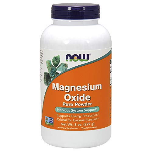 Now Supplements, Magnesium Oxide, 8-Ounce - Magnesium Oxide Powder
