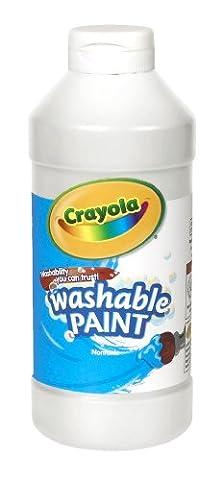 Crayola Washable Paint 16oz White (White Paint Tempera)