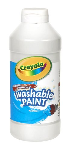 Crayola Washable Paint, White Art Tools, Plastic Squeeze Bottle, Bright, Bold Color, 16 Ounce - -