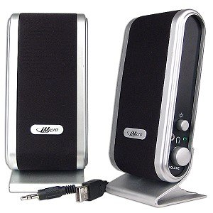 iMicro IMD168B Wired USB/2.0 Channel Multimedia Speaker System (Black)