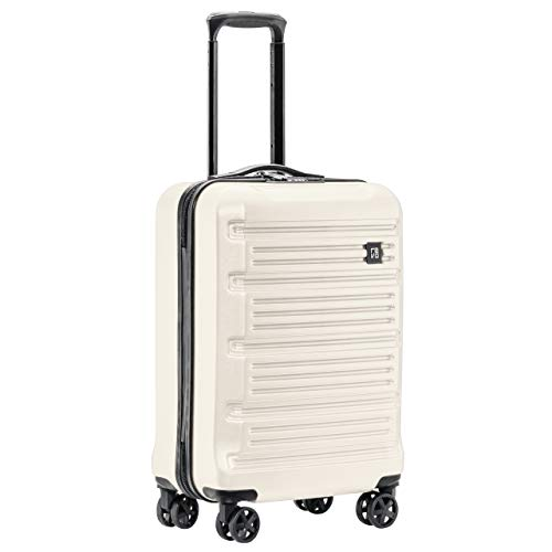 REVO Arro Hardside Luggage with Spinner Wheels, Made in USA, Carry-On 20 Inch, White