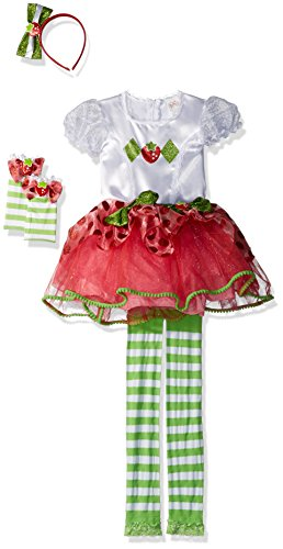 Strawberry Shortcake Costume Tutu (Strawberry Shortcake Tutu Prestige Costume, X-Small (3T-4T))