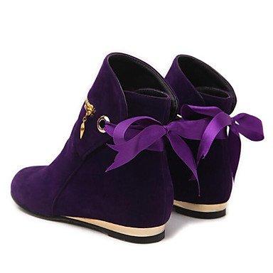Mode Jaune Bottines Talon Bottes Violet Polaire Rouge Casual Hiver Bottes Femmes Pour Chaussures Plat Pour Bottines Violet Noir vnxgFv