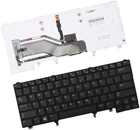 #N/A Clavier De Remplacement pour Ordinateur Portable avec Cadre Noir pour Dell Latitude E6420 E6320