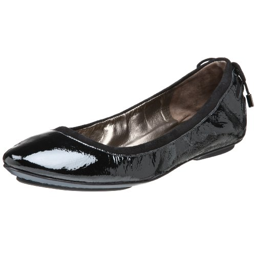 Maria Sharapova Collection By Cole Haan Womens Air Bacara  Flat Black Patent 9 M