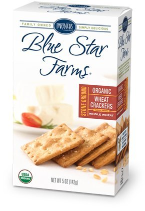 Blue Star Farms ORGANIC Stoned Ground Wheat Crackers Bite-Size Crackers, 5-Ounce Boxes (Pack of - Smoked Crackers Salmon