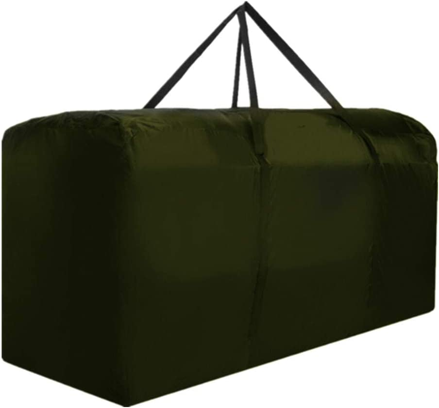 Outdoor Cushion Storage Bag Extra Large Waterproof Protective Zippered Storage Bags Furniture Storage Bag with Handles, 68