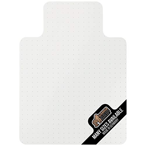 Gorilla Grip Premium Polycarbonate Easy Glide Studded Chair Mat for Carpeted Floor, 48x36, Non-Breakable Transparent Mats for Chairs, Good for Desks, Office and Home, Protects Floors, with Lip, Clear (Floor Mats For Office)