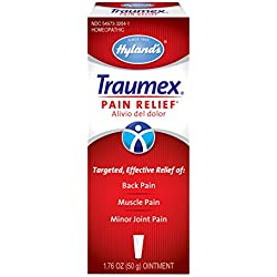 Hyland's Traumex with Arnica, Pain Relief Cream, Natural Relief of Back Pain, Muscle Pain, and Minor Joint Pain, 1.76 Ounce