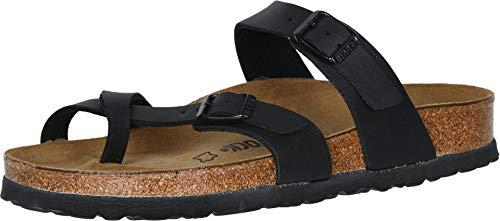 Birkenstock Women's Mayari Sandal,Black Birko-flor,37 EU/6-6.5 M US