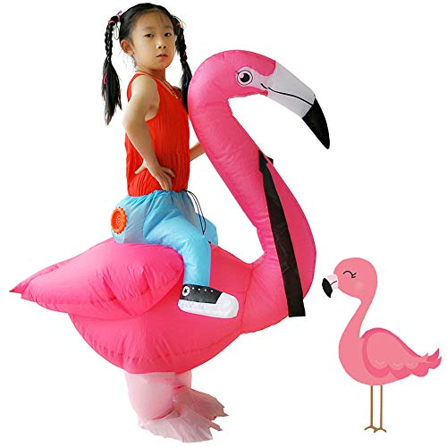 [Upgrade] Inflatable Flamingo Costume Fancy Dress Carnival Costumes for Kid Children's Day Clothes (Flamingo Kids)]()