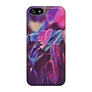 Awesome Compatible With For SamSung Galaxy S4 Mini Phone Case Cover - Purple Leaves Bokeh 2