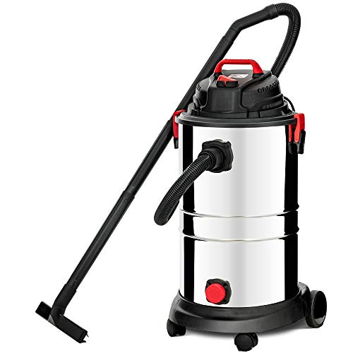 KUPPET Wet/Dry Vacuum Cleaner, 13 Gallon, 4 Horsepower, Stainless Steel Tank