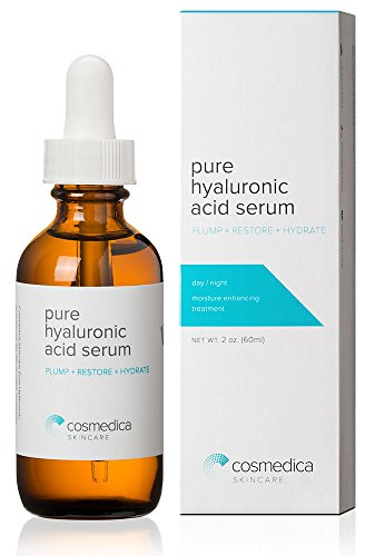 Best-seller Acide Hyaluronique Sérum Skin-- 100% Pure la plus haute qualité, anti-vieillissement Serum-- hydratation intense + humidité, non grasse, sans paraben, Vegan - Best acide hyaluronique pour Your Face (Pro Formula) 100 % Garantie de Satisfaction