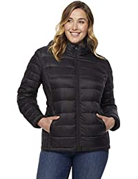 Women Plus Size Ultra Light Hooded Down Packable Jacket