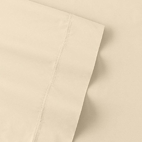 The Big One Percale Sheet Set  Twin  Ivory   275 Thread Count  3Pc Set  16  Pockets  Pima Cotton Blend  Easy Care