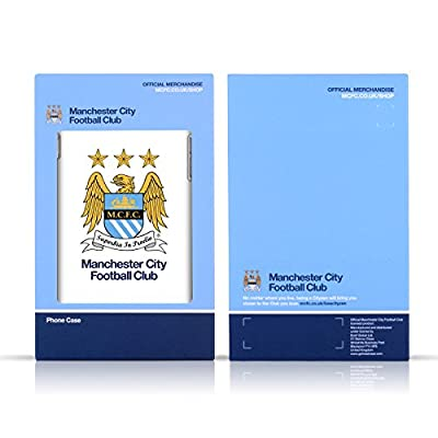 Official Manchester City Man City FC Black White Outline Badge Soft Gel Case for Samsung Galaxy S8