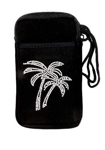 with Large Pocket Tree Bling Size Black Pami Palm wSSBrIqCc