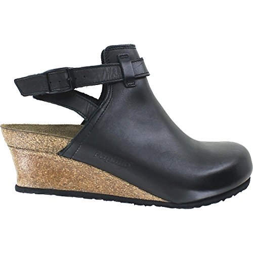 Birkenstock Esra Black Leather Sandal 37 (US Women's 6-6.5) (Birkenstock Clog Sandal)