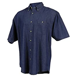 Men's 100% Cotton Scout Stonewashed Denim Shirt