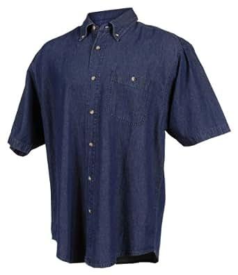 Tri-Mountain Men's 7 oz Denim Stonewashed Shirt w/Pocket