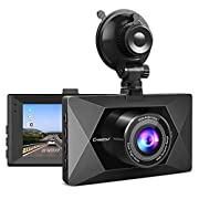 #LightningDeal Crosstour Front and Rear Dual Dash Cam FHD 1080P Mini in Car DVR Dashboard Recorder with G-Sensor, HDR, Loop Recording, Motion Detection, Parking Mode, Screen Rotation (CR600)