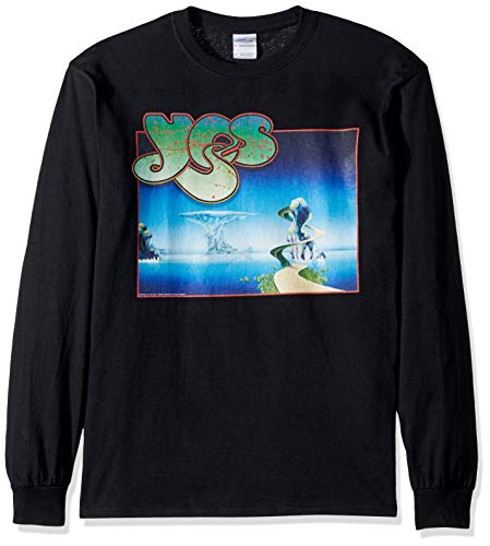 (Liquid Blue Unisex-Adult's YES Yessongs Album Cover Long Sleeve Grapic TEE, Black, X-Large)