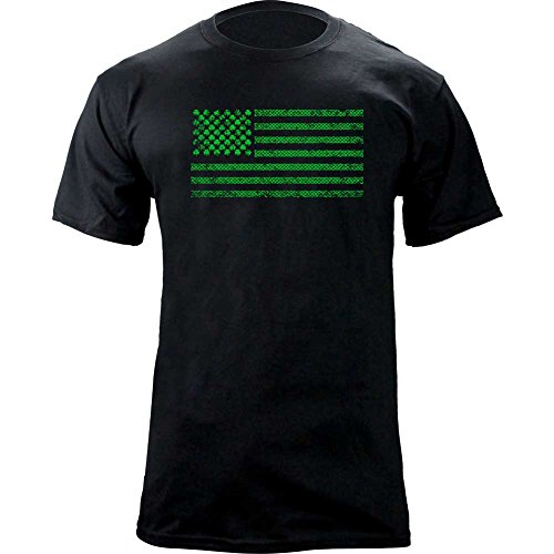 St Patricks Shamrock Flag T Shirt