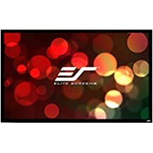 Elite Screens ezFrame, 110-inch Diagonal 16:9, 8K 4K Ultra HD Ready Ceiling Light Rejecting and Ambient Light Rejecting Fixed Frame Projector Screen, CineGrey 5D Projection Material, R110DHD5