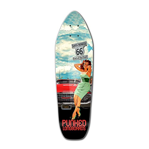 Punked Route 66 Series RTE 66 Longboard Complete Skateboard - available in All shapes (Deck - Mini - Rte Kids