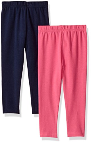 Gerber Graduates Baby Girls' 2 Pack Leggings, Fuchsia/Navy, 18 Months ()