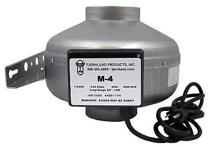 Tjernlund M-4 Metal Inline Duct Fan
