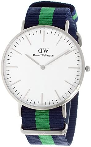 ダニエル ウェリントン ワーウィック/シルバー 40mm クオーツ 腕時計 0205DW(DW00100019) ホワイト【メンズ】 [並行輸入品]
